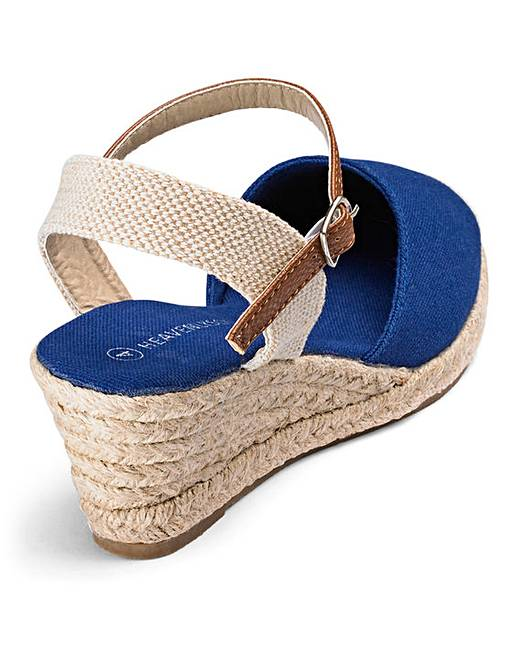2d602a95287 Heavenly Soles Wedge Espadrilles Extra Wide EEE Fit. Rollover image to  magnify