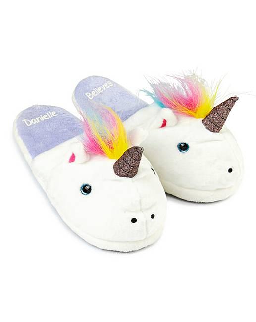 93605754e59 Personalised Unicorn Slippers