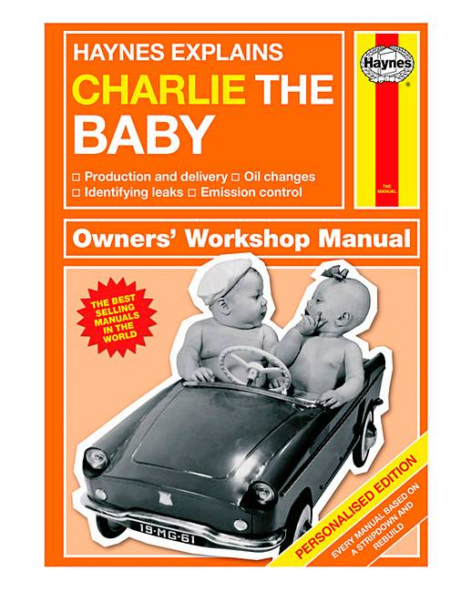 personalised haynes baby manual j d williams rh jdwilliams co uk haynes baby owner's manual the haynes baby manual conception to two years