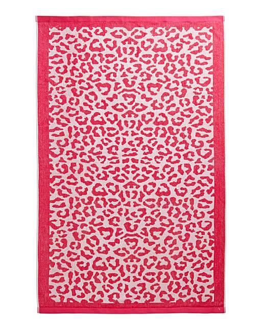 Christy Leopard Print Beach Towel