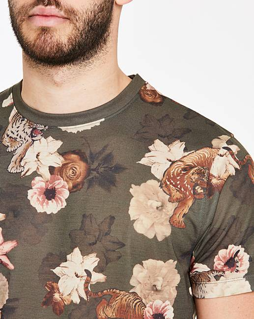 ba957825c Tiger Print Sublimation T-Shirt Regular. Click to view 'Jacamo' products.  Rollover image to magnify
