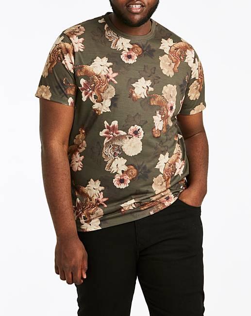 be0f6c8df Tiger Print Sublimation T-Shirt R | Jacamo