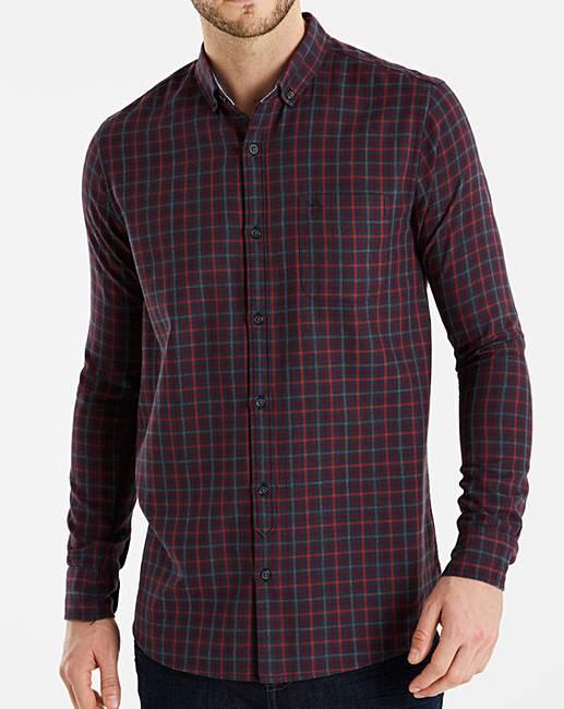 Cheap Original Penguin Gingham Flannel Shirt Long