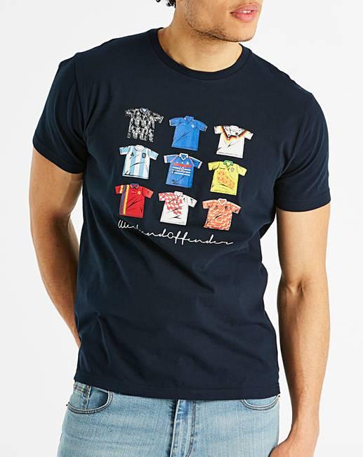 Weekend Offender Navy Football T-Shirt R  139d57531