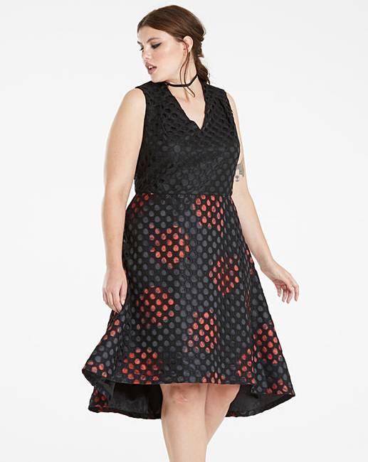 12d2c63e09b Rose Print Lace Prom Dress