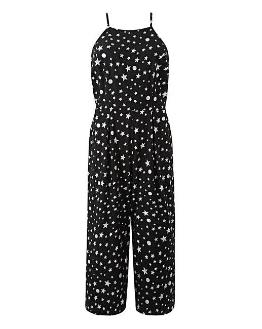 Tall Foil Star Print Jumpsuit by Simply Be