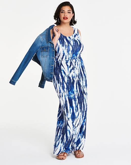 Tie Dye Stretch Maxi Dress by Simply Be