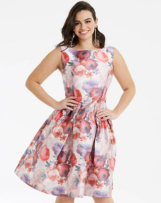 824c770c173 Chi Chi London Floral Fit   Flare Dress