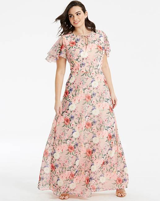 1d2aabf640f Chi Chi London Floral Maxi Dress