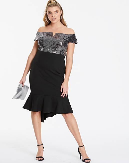 5113eae3d234 Quiz Curve Fishtale Midi Dress