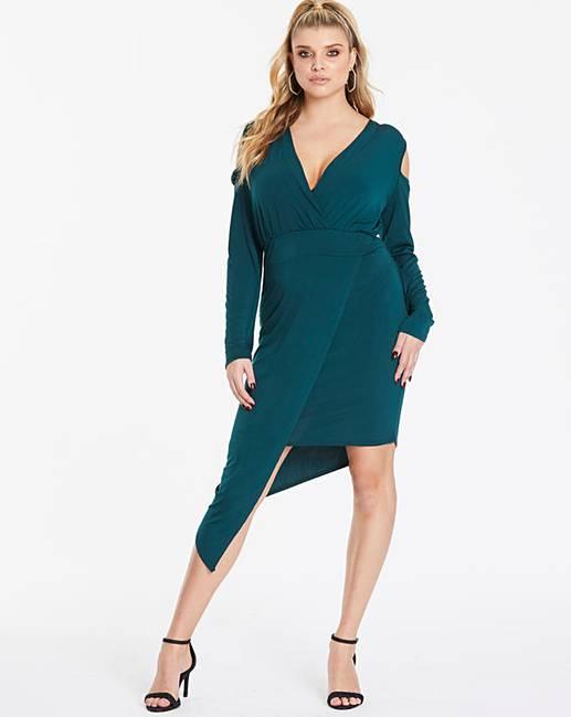 1b8712395c250 Pink Clove Asymmetric Dress