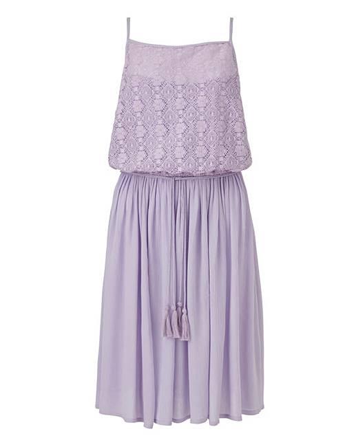 Lilac Tassel Skater Dress  6d978f5e4