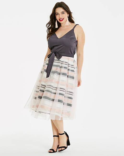 Mesh Prom Dress