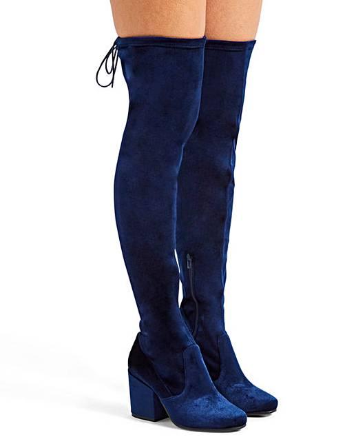 b6e3de2c51f Irina Heeled Over The Knee Boots Super Curvy Calf Extra Wide EEE Fit