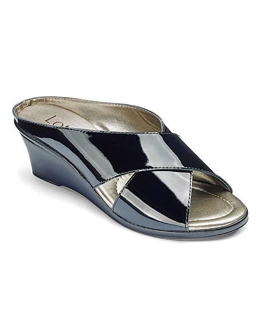 8d8e2513c7c9 Lotus Leather Mule Sandals EEE Fit