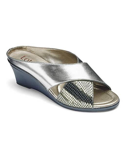 17f402e81cf2 Lotus Leather Mule Sandals E Fit