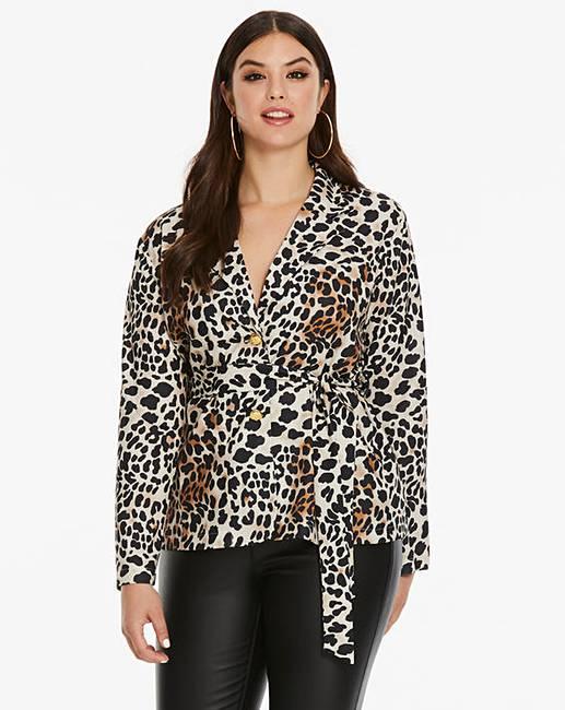 AX Paris Curve Leopard Print Jacket  78c0ab8fa