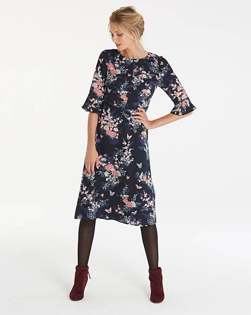 Top Oasis Curve Kimono Sleeved Midi Dress free shipping