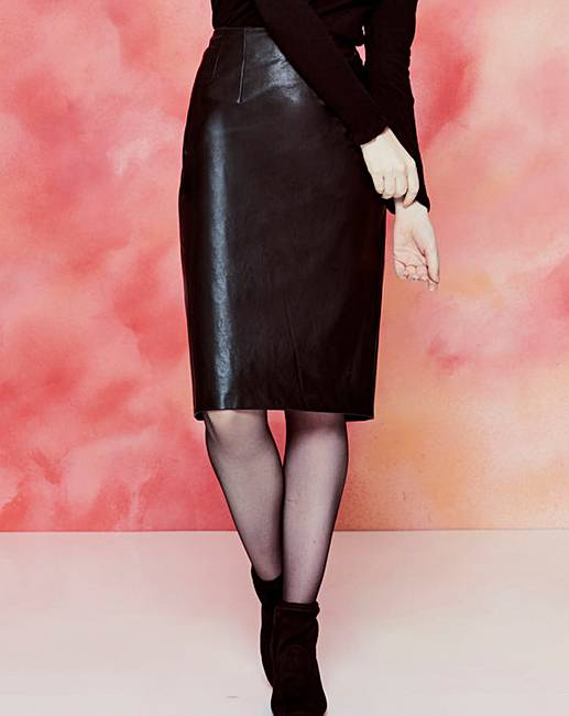 28f5f250b5 Oasis Faux Leather Pencil Skirt | J D Williams