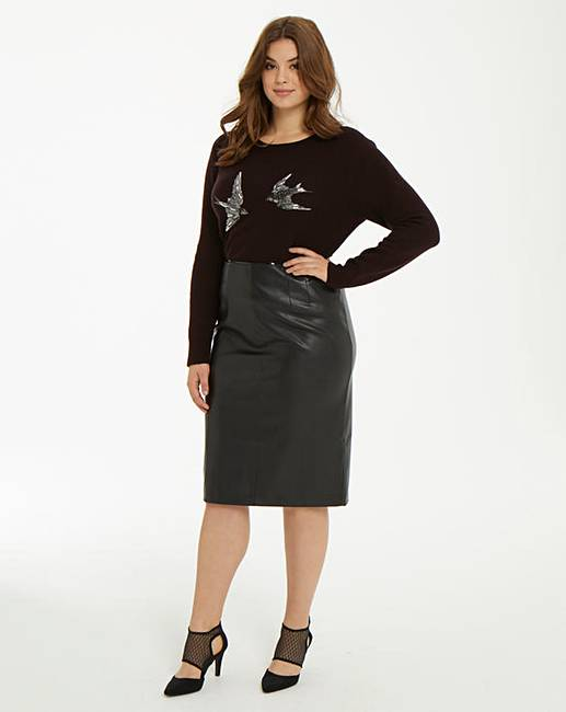 94e2ddf4df Oasis Faux Leather Pencil Skirt | Simply Be