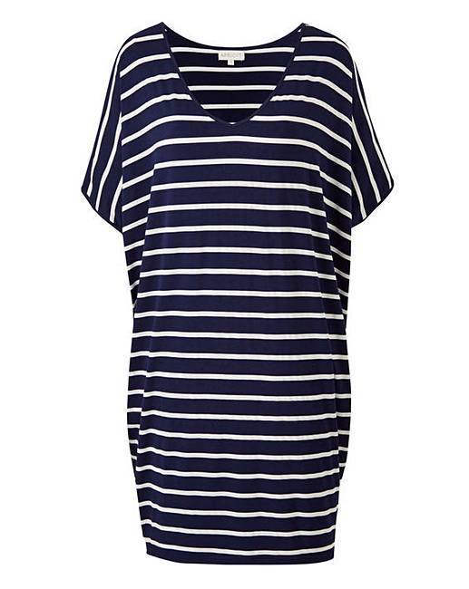880bb576ccb Apricot Oversized Stripe Jersey Tunic Dress. Click to view 'Apricot'  products. Rollover image to magnify