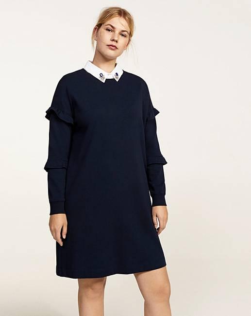 892f302ac078 Violeta by Mango Beaded Collar Dress