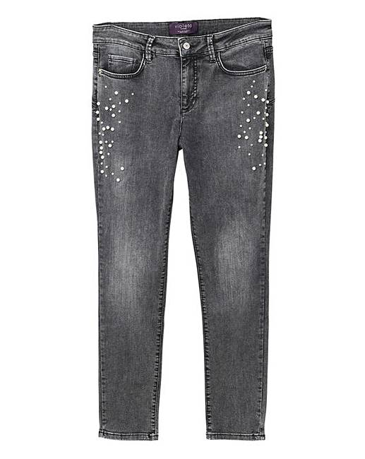 Violeta by Mango Pearl Ripped Jeans  4126ad651
