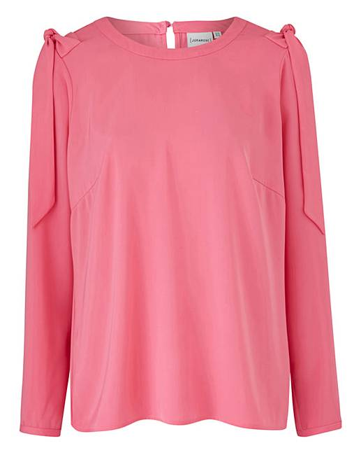 Hot Junarose Pink Shell Blouse for cheap