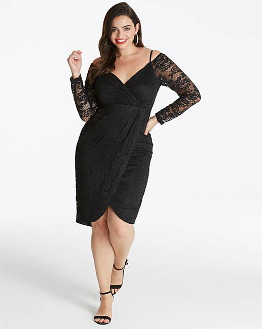 a8cfc6044dc942 AX Paris Curve Midi Length Lace Dress | Simply Be