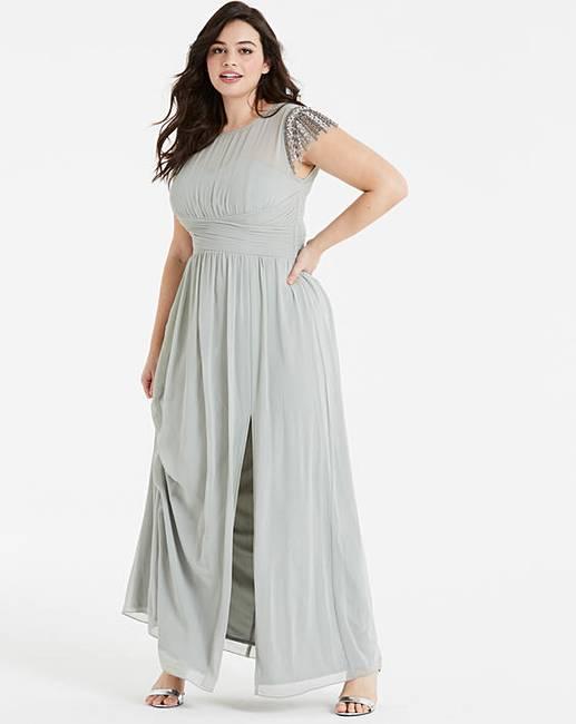 4a35e19d9d3af Little Mistress Embroidered Maxi Dress | Simply Be