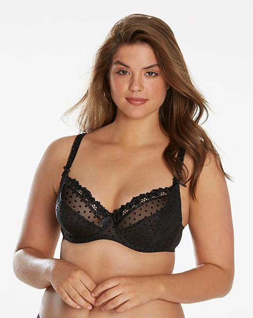 3cfaaa08c58 Curvy Kate Princess Black Balcony Bra