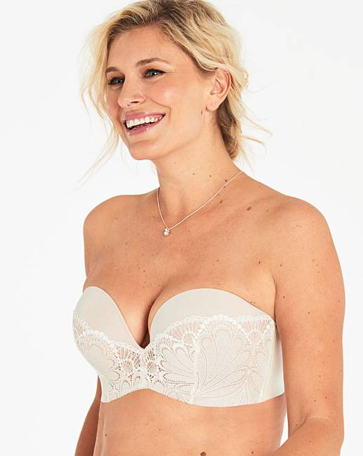 15df6a475d Wonderbra Glamour Lace Ivory Strapless Bra