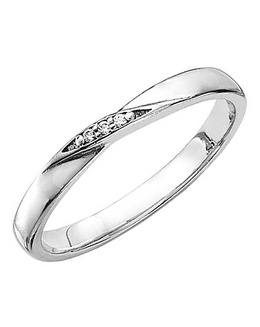 18 Carat White Gold Wedding Altair Diamond Ring