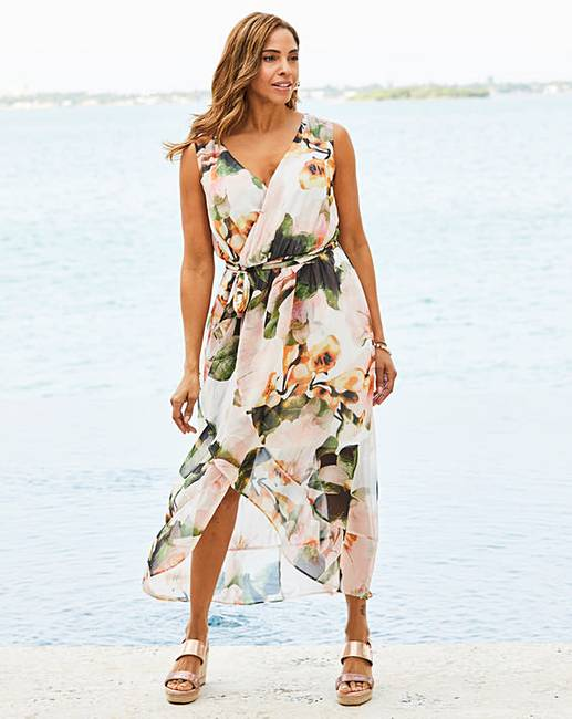 14d4101b948c7c Joanna Hope Print Wrap Maxi Dress | Oxendales