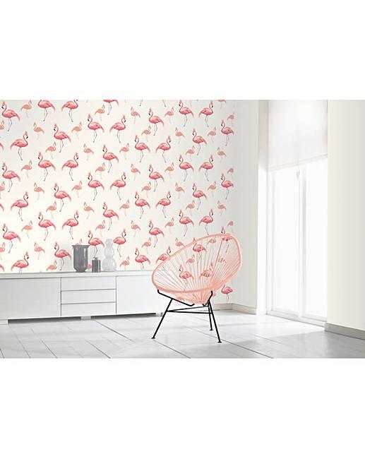 Flamingo Queen Wallpaper Coral