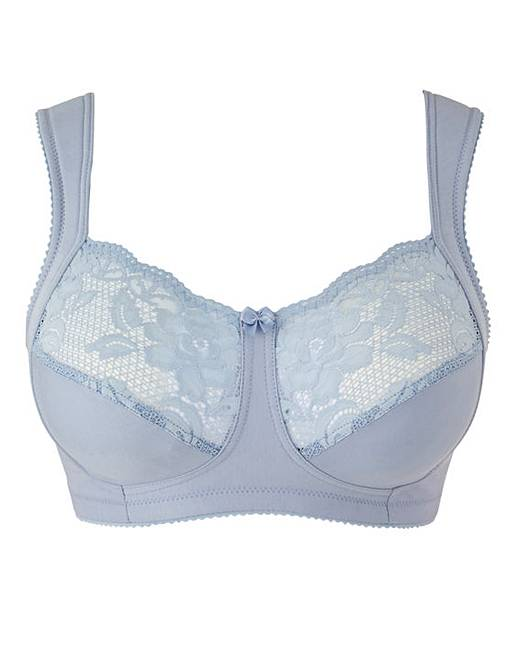 Miss Mary Cotton and Lace Non Wired Bra   Fashion World