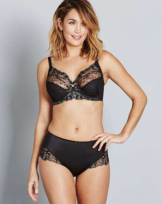 fe527f0cc16ad Triumph Modern Bloom Full Cup Black Bra