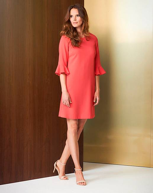 Cheap Helene Berman Fluted Sleeve Dress