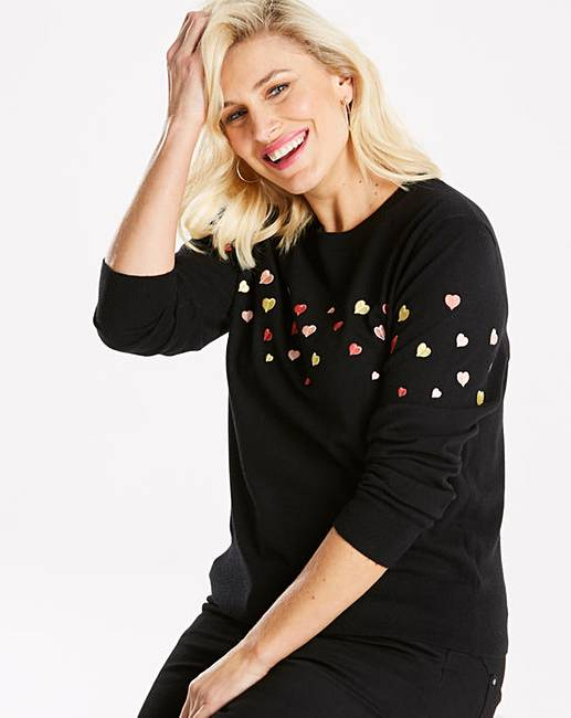42d312b5619 Oasis Curve Heart Embroided Jumper