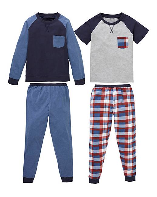 Wholesale Older Boys Pack of Two Pyjamas for cheap