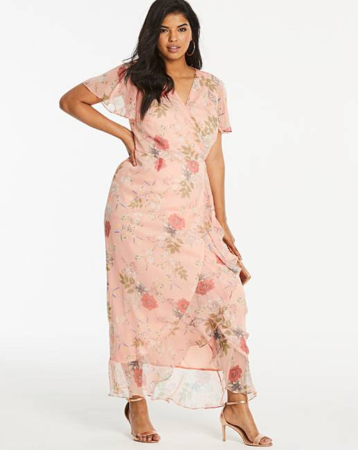 00b5cd688d Lovedrobe Floral Wrap Dress | Simply Be