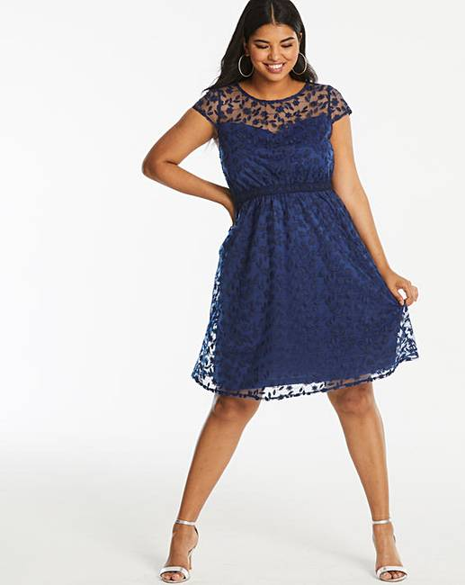 e858b53e91aa Lovedrobe Lace Skater Dress