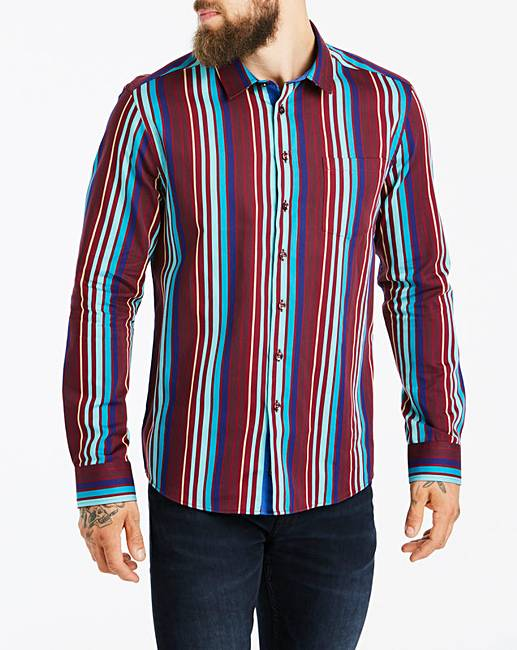 bdb17a7b6 Joe Browns Party Stripe Shirt Long | Jacamo