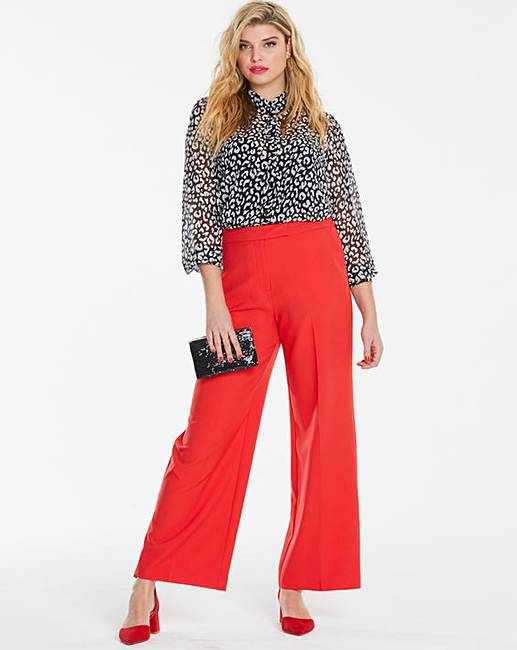 bf768ee166a62 Mix and Match Red Wide Leg Trousers   Simply Be