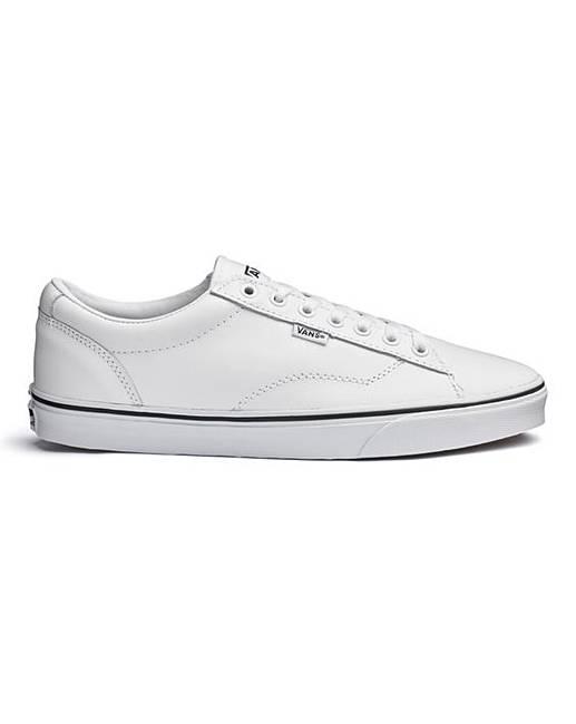cc3dfb34047618 Vans Mens Dawson White Leather Trainer