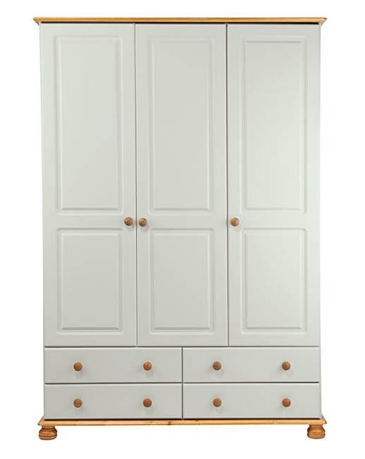 buy online d6d34 8c920 Stamford 3 Door 4 Drawer Wardrobe