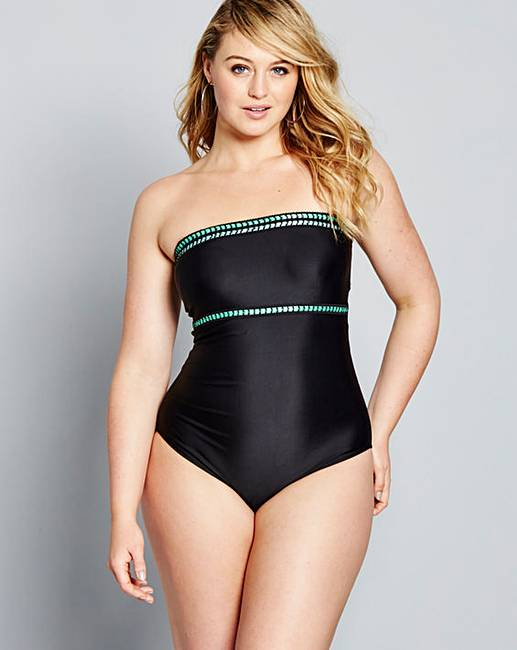 bec5b02ca06 Simply Yours Bandeau Swimsuit
