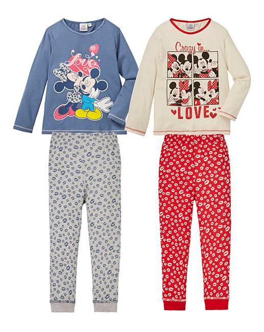 Pack of Two Minnie Mouse Pyjamas | Fashion World