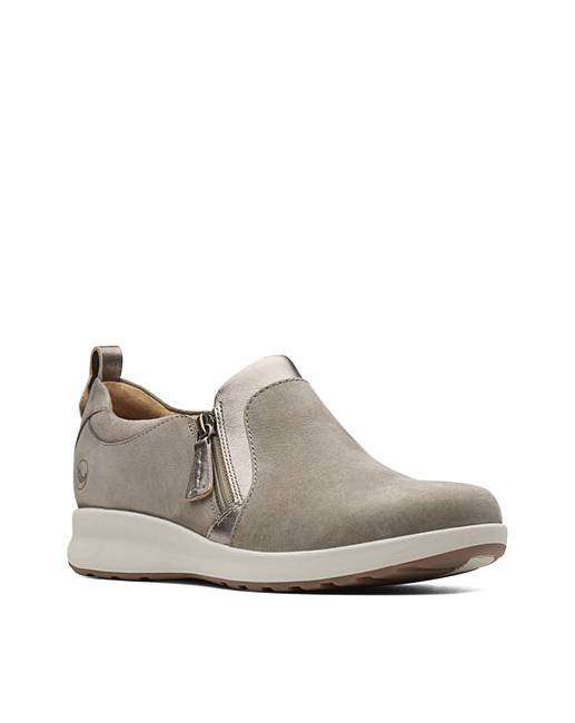 Clothing, Shoes & Accessories Comfort Shoes Ladies Clarks Un Adorn Zip Leather Casual Shoes D Fitting