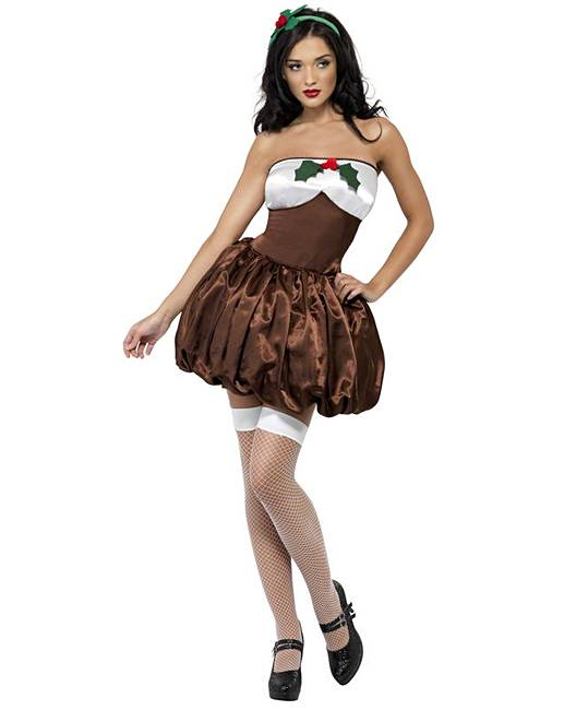 f41a4c3de7b2d Ladies Saucy Christmas Pudding Costume | Fashion World
